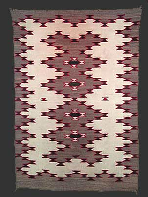 NAVAJO RUGS: Design sources -- reservation map